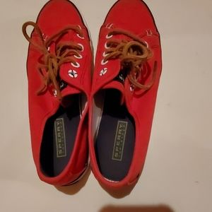 Sperry Size 6.5 Red Tennis Shoes
